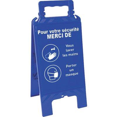 Chevalet Bleu - Laver les mais et Porter un masque