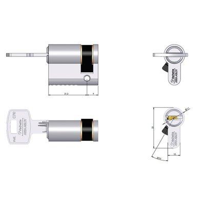 Cylindre simple Velix - 5 clés