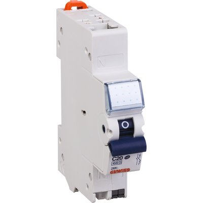 Disjoncteur Fixmatic Ph+N - 4,5 kA - Courbe C - 1 module