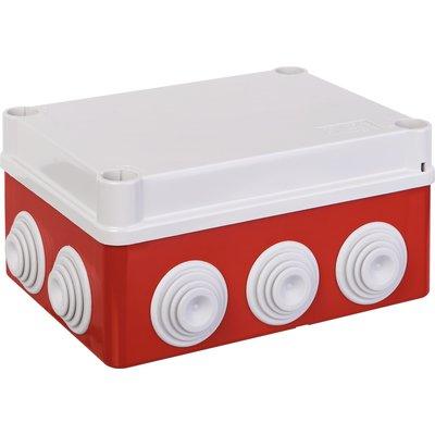 Boîte de dérivation carrée IP55 - Avec passe-fils - Couvercle bas et vis qu