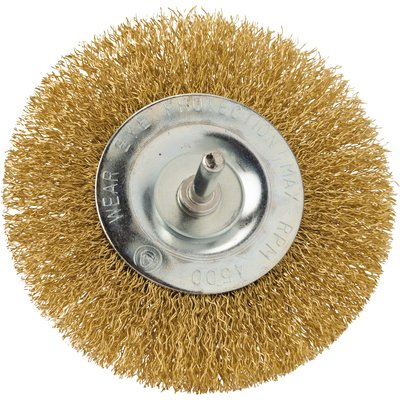 Brosse abrasive circulaire sur tige - Pour perceuse