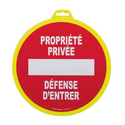 Panneau de signalisation propriété privée - Plastique rigide
