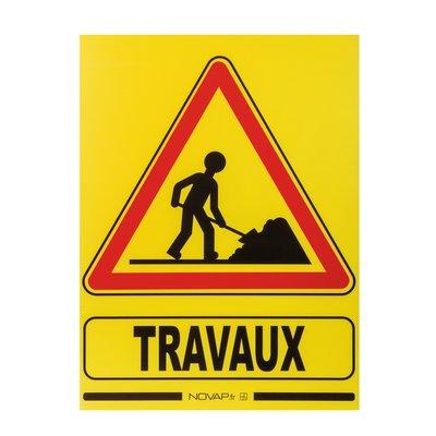 Panneau de signalisation temporaire travaux - Plastique alvéolé imputrescib
