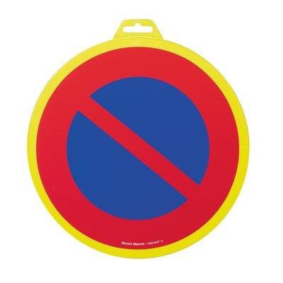 Panneau de signalisation défense de stationner - Plastique rigide