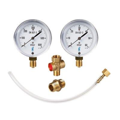 Coffret manomètre robinet tuyau écrou pour contrôle de gaz