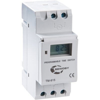 Horloge digitale hebdomadaire - Tension 230 V