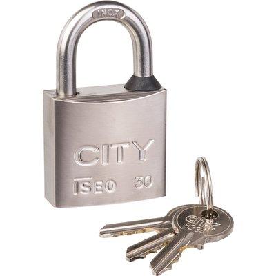Cadenas à clé - Anse inox - Avec 3 clés