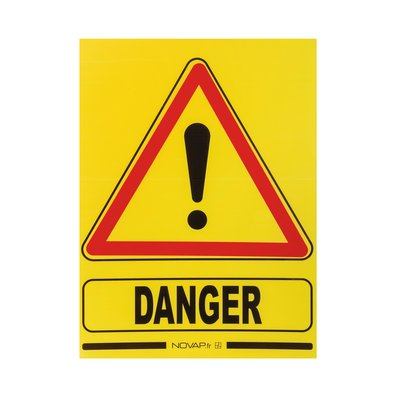 Panneau de signalisation temporaire danger - Plastique alvéolé imputrescibl