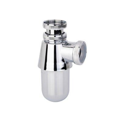 Siphon bidet-lavabo - ABS - Chromé