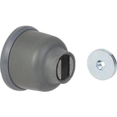 Arrêt de porte magnétique - Fixation au mur - Gris