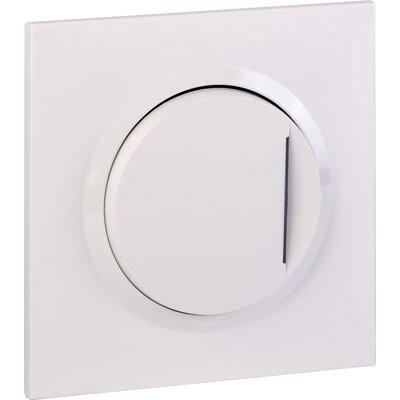 Interrupteur ou va-et-vient avec voyant témoin + plaque carrée et griffes -