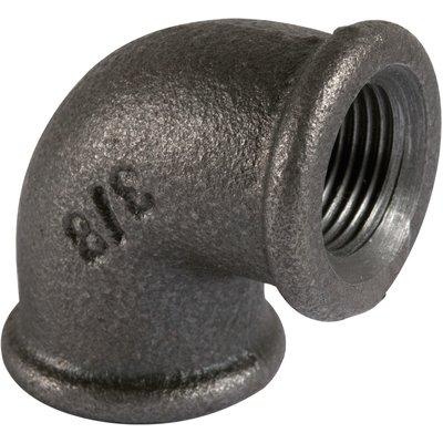 Raccord coudé 90° - Fonte noire - Femelle / Femelle - 90