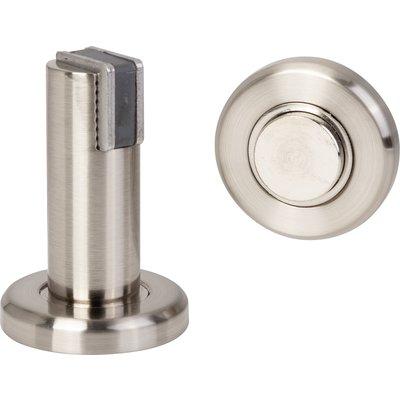 Arrêt de porte magnétique 2 en 1 - Fixation au sol / mur