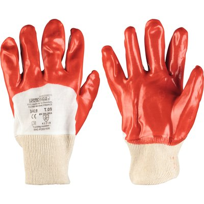 Gants de protection - Protection chimique - PVC - Rouge