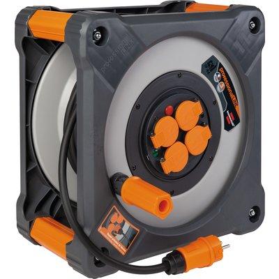 Enrouleur de câble cube IP 44 - Longueur 40 m - Section 3G1,5 mm²