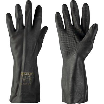 Gants de travail - Spécial carreleur - Polychloroprène / Latex - Noir