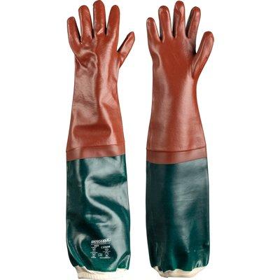 Gants de protection - Spécial égoutier - PVC - Rouge / Vert