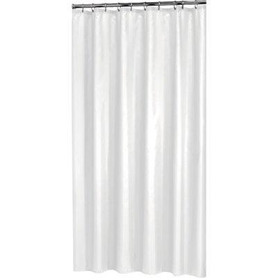 Rideau de douche PVC - Blanc