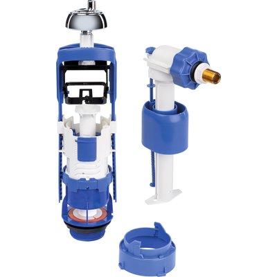 Kit rénovation de mécanisme de WC Clip'Easy - Double débit