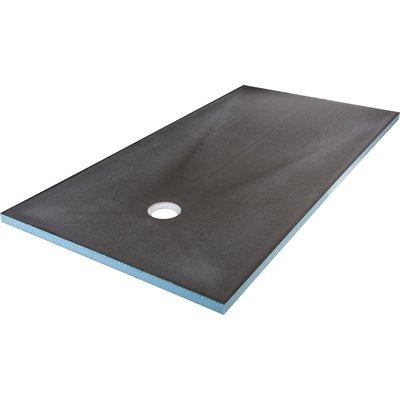 Lot Receveur rectangle excentré - 900x1800 mm + Fundo écoulement vertical O