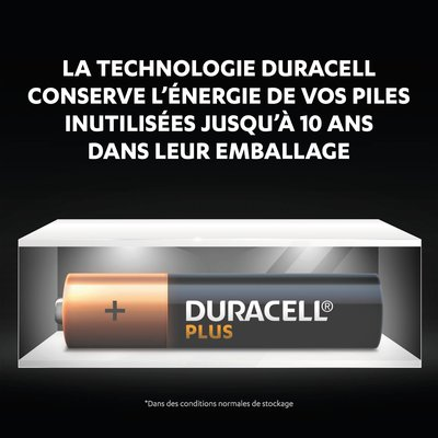 Piles Duracell Plus 100% AAA