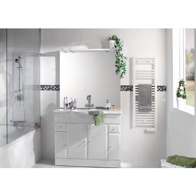 Sèche-serviette électrique étroit 2012 - Blanc - Largeur 40 cm