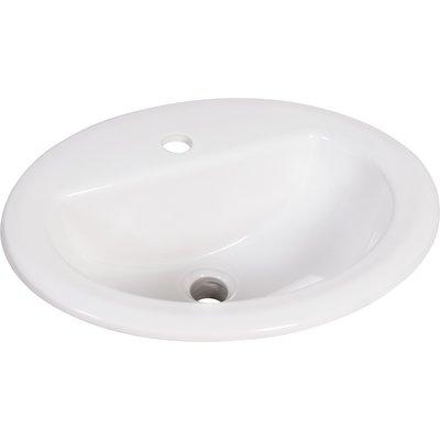 Vasque  porcelaine émaillée à encastrer S20