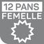 12 pans femelle