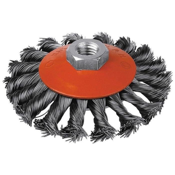Brosse abrasive cuvette - Mèches acier torsadées-1