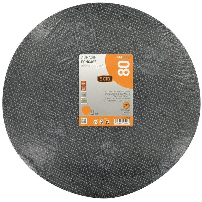 Disque abrasif auto-agrippant - Diamètre 225 mm-1