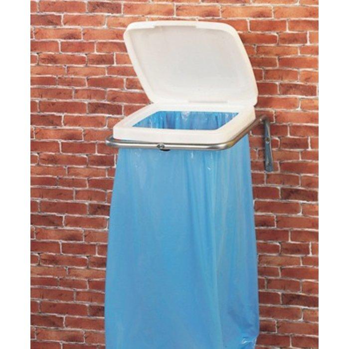 Support à sac poubelle mural avec couvercle - Capacité du sac 30 à 110 l