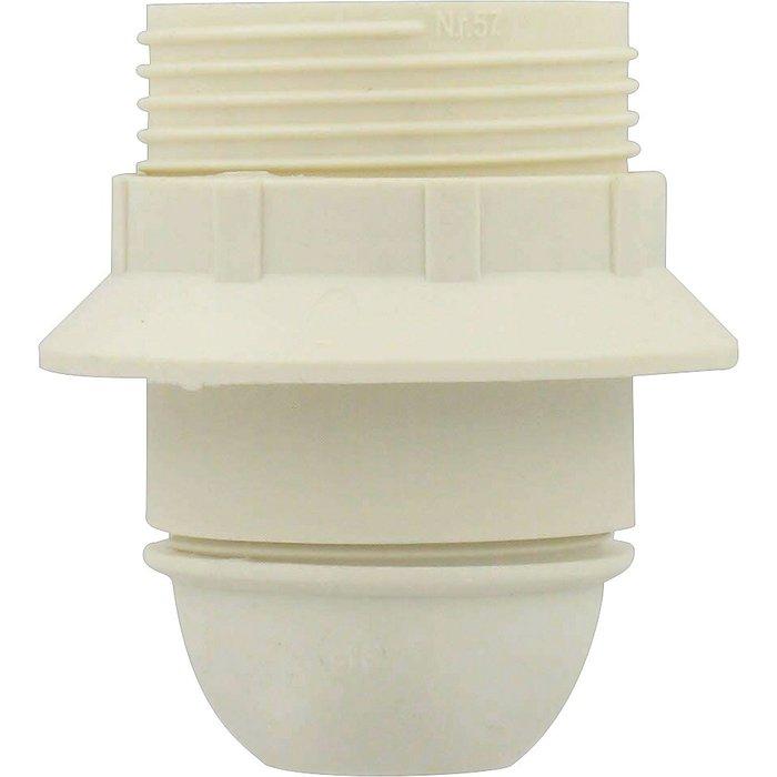 Douille électrique - Culot E27 - Bakélite blanc