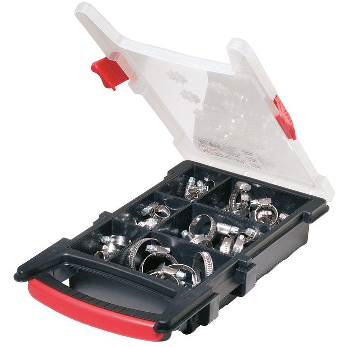 Collier de serrage W4 - Bande non perforée - Inox - Coffret de 60 pièces-1