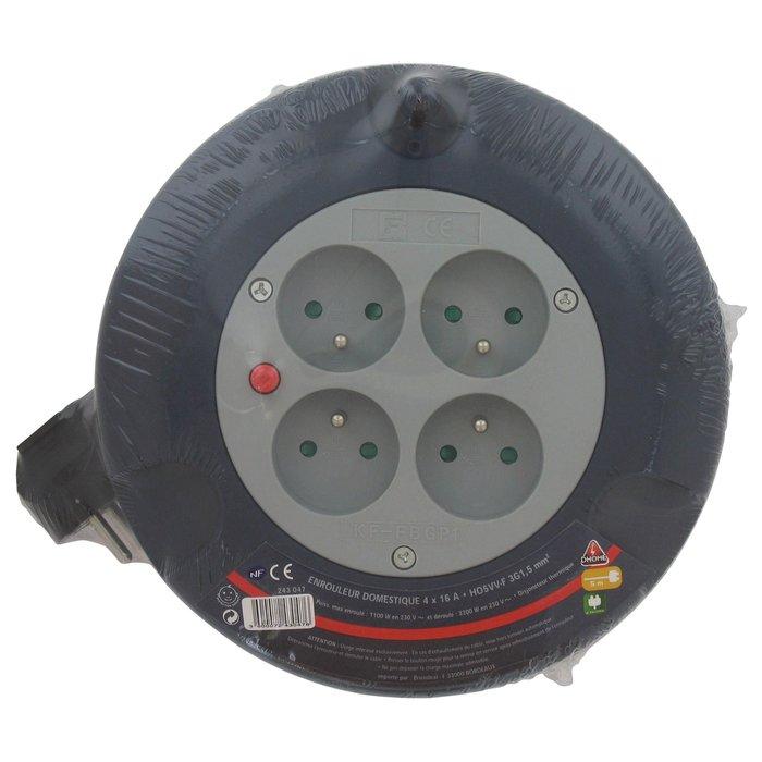 Enrouleur électrique domestique - Câble  3G1,5 mm² - Longueur 5 m-4