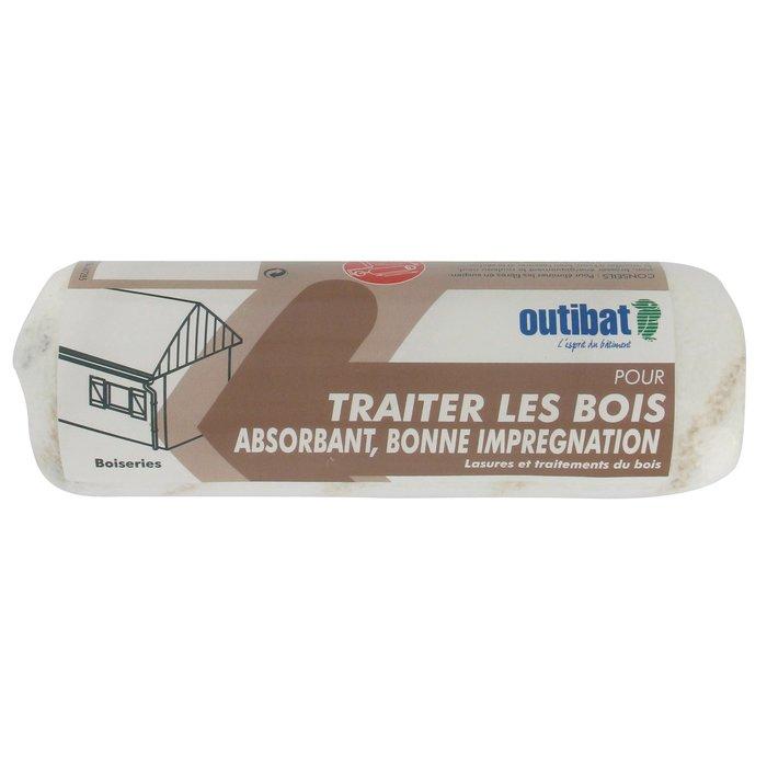 Rouleau de peinture - Manche bi-matière - Spécial traitement du bois-1