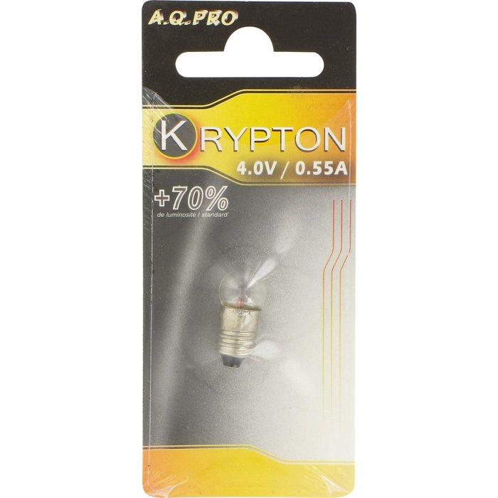 Ampoule xenon - Pour lampe torche - Culot à vis - Tension 4 V-2
