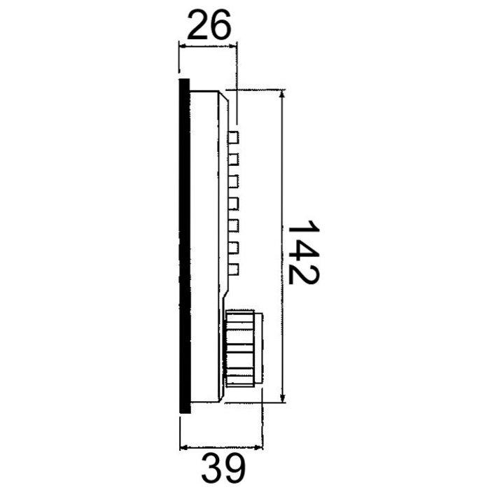 Verrou à code - Mécanique - Aluminium brossé-3