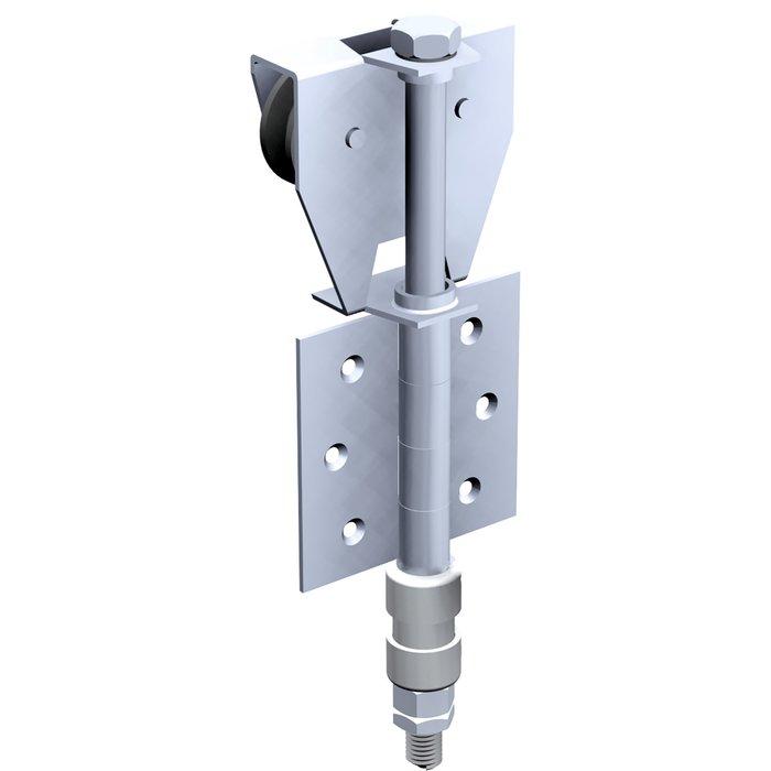 Ferrure pour porte extérieure - Capacité 50 kg - Monture fixation sur plat
