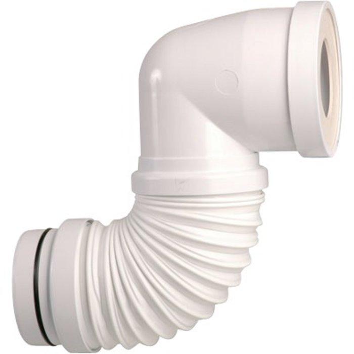Pipe WC souple coudée extensible - À mémoire de forme