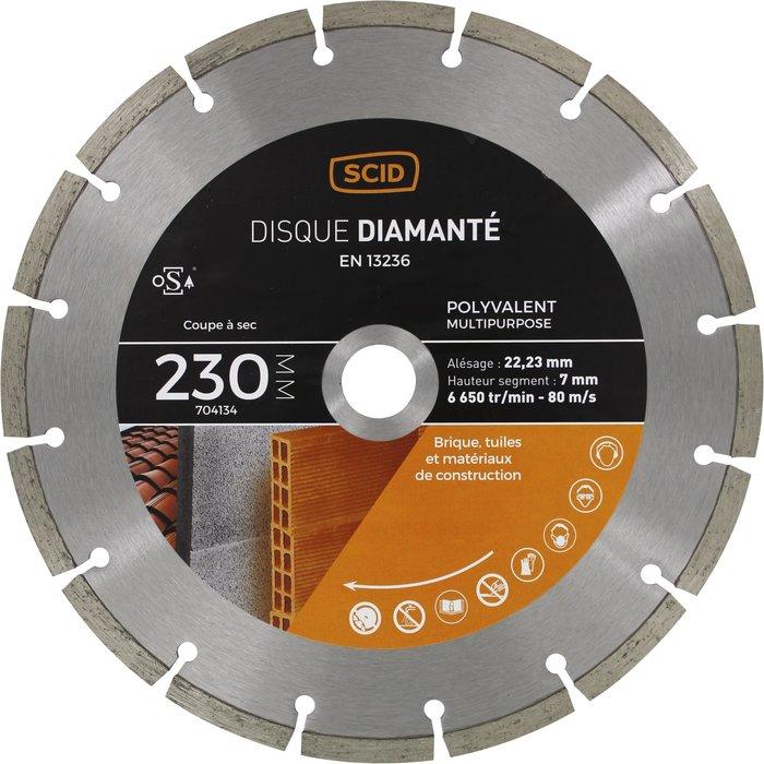 Disque diamant polyvalent segmenté Eco