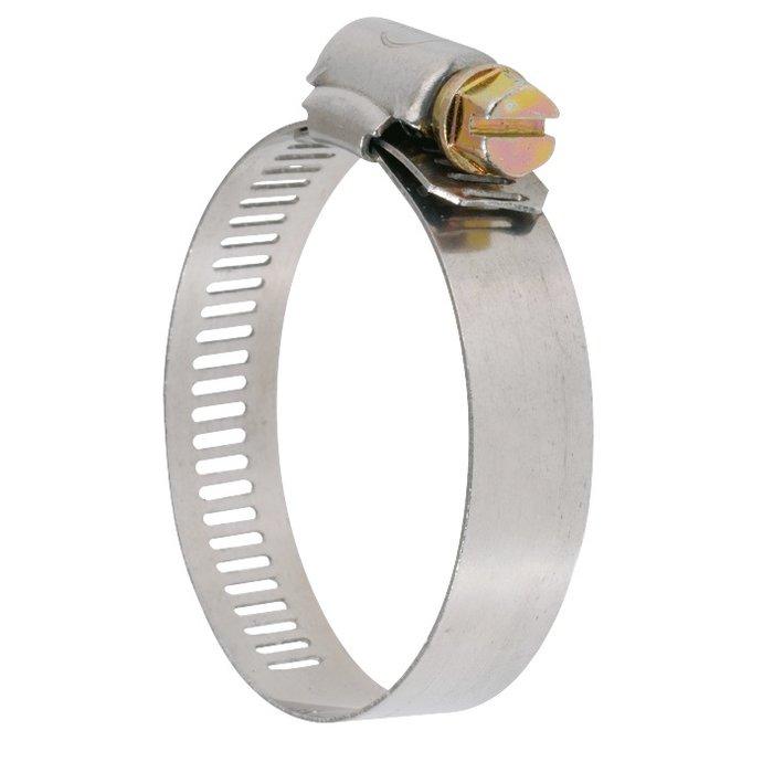 Collier de serrage W2 - Bande perforée - Acier zingué-inox-2