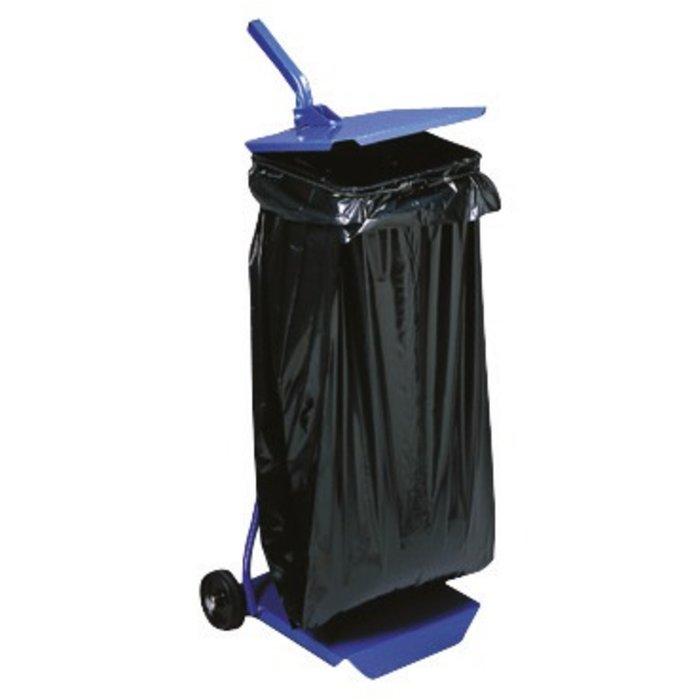 Support à sac poubelle roulant avec couvercle - Capacité du sac 110 l