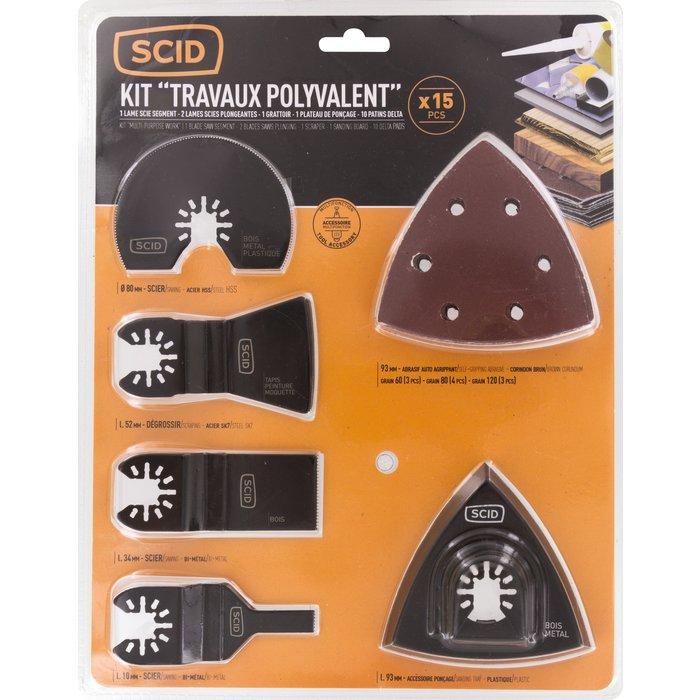 Accessoires pour outils multifonctions - Jeu de 15 pièces-3