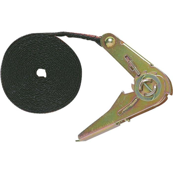 Sangle d'arrimage à cliquet avec tendeur - Largeur 25 mm - Charge 150 kg
