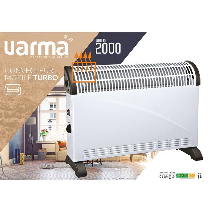 Convecteur électrique mobile - Turbo ventilation - Puissance 750 / 1250 / 2000 W-4