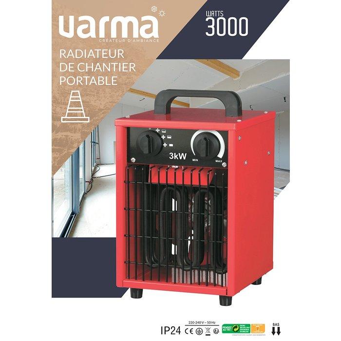 Radiateur électrique d'appoint pour chantier - Cube - Puissance 1000 / 2000 / 3000 W-9