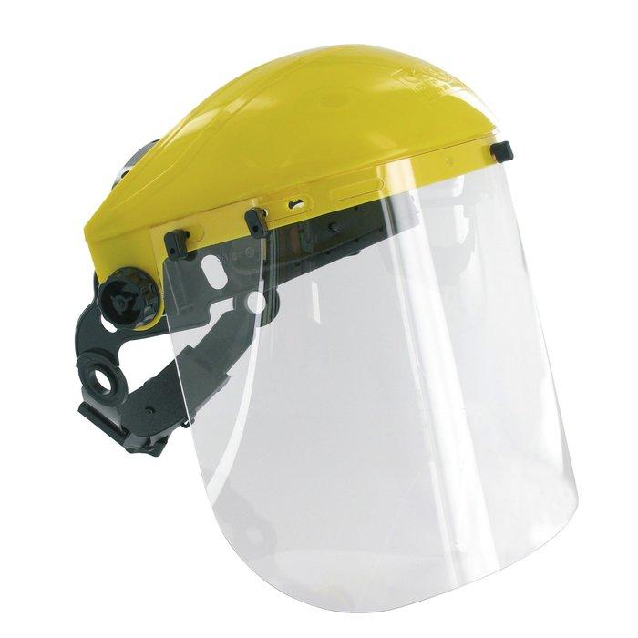 Visière de débroussaillage pour casque de chantier