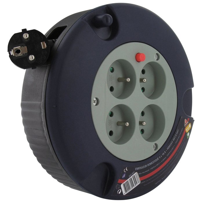 Enrouleur électrique domestique - Câble  3G1,5 mm² - Longueur 5 m-3