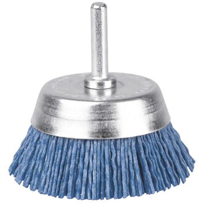 Brosse abrasive conique - Nylon - Bleu-1