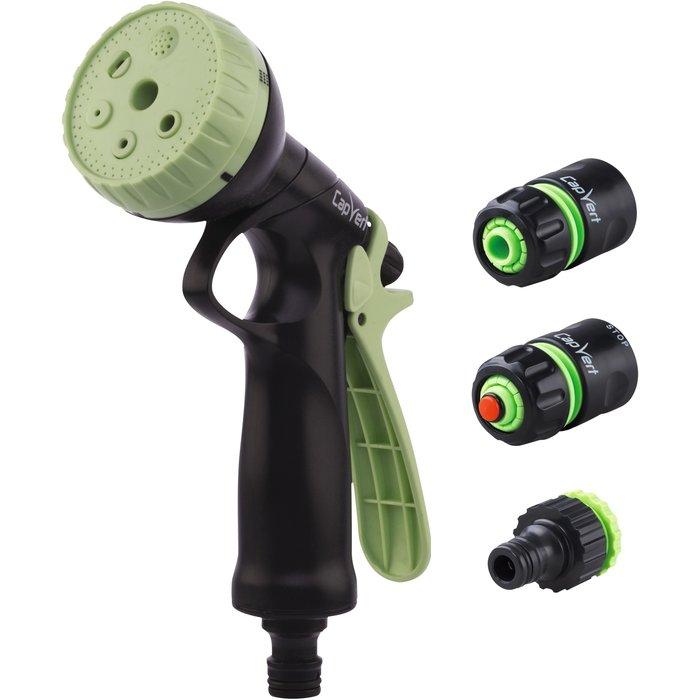 Kit pistolet d'arrosage ABS à pomme et raccords